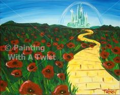 """Follow the Yellow Brick Road"" 8/19 @ 6p - So excited that we have a Wizard of Oz painting to offer you! #PWATIndy"