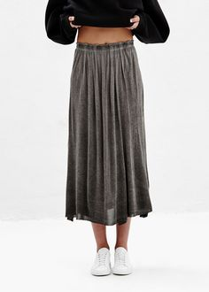 Raquel Allegra Maxi Skirt (Dark Wash)