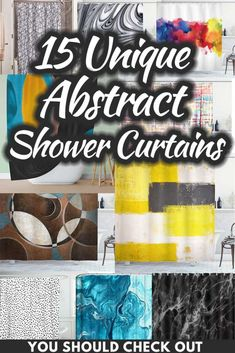 15 Unique Abstract Shower Curtains You Should Check Out. Article by HomeDecorBliss.com #HDB #HomeDecorBliss #homedecor #homedecorideas