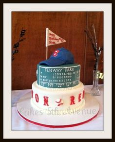 Red Sox Baseball Cake! For my son....