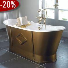 Westbury Badekar, Støbejern - Badekaret måler 1.700 x 680 mm   Bredt udvalg af badekar kan købes billigt online hos VillaHus.com
