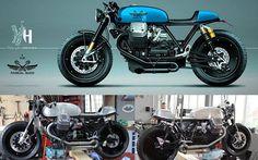 Moto Guzzi California 1400 by rendering Holographic Hammer