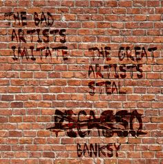 #poster #streetart #picasso #quote #banksy #room #33x35  #writeonthewall #wall