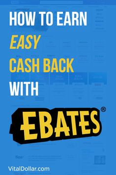 Ebates Review: How to Earn Easy Cash Back with Ebates. Best way to save money and get cash back for your purchases, use the Ebates website or app. Save money on online purchases and some in store purchases. Stack this cash back with a good rewards credit cards to multiple the benefits. Frugal, money management, budgeting, personal finance. #vitaldollar #savingmoney #saving #frugal #frugalliving #personalfinance Ways To Save Money, Money Saving Tips, Money Tips, Managing Money, Financial Apps, Earn Money Fast, Rewards Credit Cards, Frugal Living Tips, Budgeting Tips