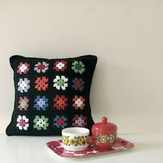 Granny square pillows. Or just granny squares in general. :)