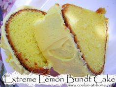 Extreme Lemon Bundt Cake Recipe Desserts with lemon cake mix, lemon pudding, extra large eggs, sour cream, lemon extract, lemon, lemon, oil