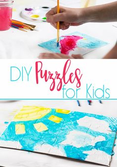 These DIY Puzzles for kids are a fun craft for summer! Find simple tips for creating the puzzles & keeping your art space clean with Bounty Advanced by clicking on the picture.   #PGDetailsMatter, #IC ad http://goic.io/WiwLw8