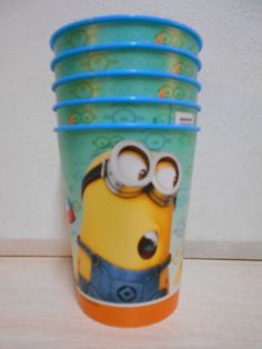 Chldren's Tumblers NEW 6oz Cups SET OF 5 Disney Minions FUN Colorful Cups #Disney