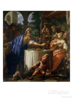 The Banquet of Mark Anthony (83-30 BC) and Cleopatra (69-30 BC) 1717 (oil on canvas), Trevisani, Francesco (1656-1746) / Galleria degli Uffizi, Florence, Italy / The Bridgeman Art Library