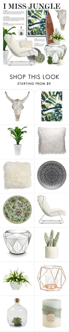 """""""NEAR BEACH, SO I MISS JUNGLE"""" by defivirda ❤ liked on Polyvore featuring interior, interiors, interior design, home, home decor, interior decorating, Crate and Barrel, Richard Ginori, Mitchell Gold + Bob Williams and Allstate Floral"""