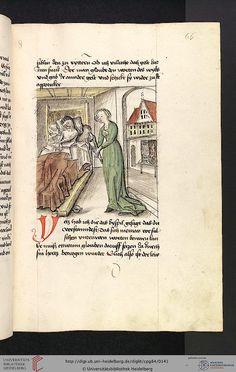 Cod. Pal. germ. 84: Antonius von Pforr: Buch der Beispiele ; Passionsgebet (Schwaben , um 1475/1482), Fol 66r