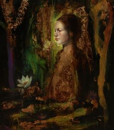 Sol Halabi - Argentine figurative mixed media painter
