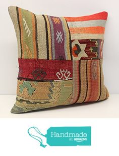 Throw Patchwork kilim pillow cover 18x18 inch (45x45 cm) Handmade Kilim pillow cover Office Decor Accent Hand woven Cushion Cover https://www.amazon.com/dp/B06WP7Q1Z2/ref=hnd_sw_r_pi_dp_YSVPybE6JA1J8 #handmadeatamazon