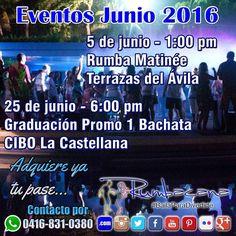 JUNIO RUMBERO Matinée el 5 de junio Graduación el 25 de junio #Rumbacana #BailaParaDivertirte  #SalsaCasinoVenezuela  #AcademiaOG