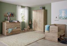 Komplettzimmer »Sylt« Babybett + Wickelkommode + Kleiderschrank, (3-tlg.) in eiche NB online kaufen | OTTO