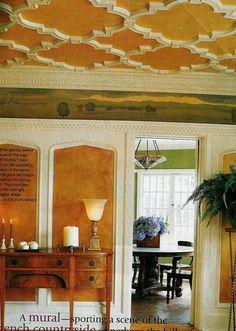 I love a decorative ceiling!