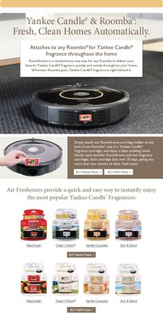 RoomAroma® For Roomba® - Yankee Candle.