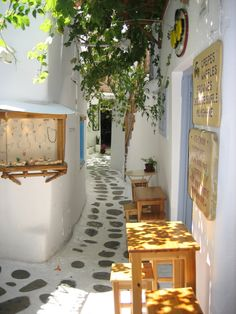 Looks like a dream. Shopping alley in Mykonos ,Greece