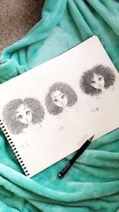 @BoomerKye Black Girl Art, Art Girl, Art Drawings Sketches, Cute Drawings, Christina Lorre, Arte Sketchbook, Drawing Techniques, Art Pages, Art Tutorials