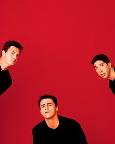 Some friends...David Schwimmer, Matt LeBlanc and Matthew Perry