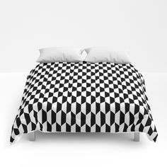 Hexa Checkers Comforters by bitart Scandinavian Bathroom, Scandinavian Home, Pillow Shams, Bed Pillows, Shades Of White, Black And White, Uo Home, Nordic Home, Duvet Covers