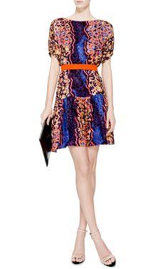 Roamer Belted Printed Silk Dress by Peter Pilotto - Moda Operandi