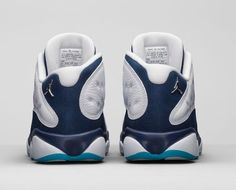 "ea93523cb97669 Air Jordan 13 (XIII) Retro Low ""Hornets""White Metallic Silver-Midnight Navy- Turquoise 310810-107  310810-107  -  88.00"