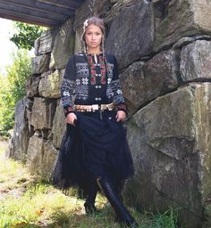 Traditional Norwegian pattern with hand embroidered details. Folklore, Irene, Hand Embroidery, Lace Skirt, Knitwear, Goth, Feminine, Hands, Traditional
