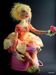 """Cloth Art Doll  """"Aelwyn""""  by Treenickel on Etsy"""