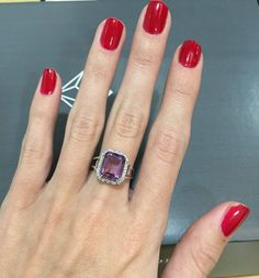Add some glamour to your weekend with a Amethyst Cocktail Ring. #thediamondstoreuk #ring #jewellery #diamonds #amethyst