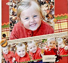 Angle Your Page Design...can't decide which I like most, the layout or her chunky cheeks!