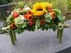 Afbeeldingsresultaat voor bloemstukjes in glazen schaal