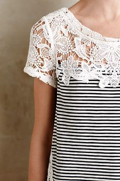 Lace Edge Tee - anthropologie.com