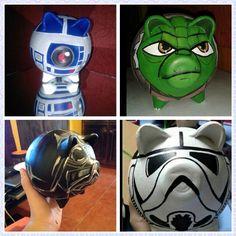 Personajes de la Guerra de las Galaxias Pig Bank, Apple Festival, Personalized Piggy Bank, Pet Pigs, Silent Auction, Iron Man, Nerdy, Star Wars, Superhero
