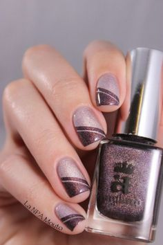 Mauve nails with a subtle glitter