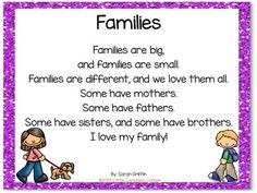 Families Build a Poem All About Me Poem for Kids by Little Learning Corner Family Poems For Kids, Rhyming Poems For Kids, Poems For Boys, Preschool Poems, Poetry For Kids, Family Songs, Family Theme, Teaching Kindergarten, Simple Poems For Kids
