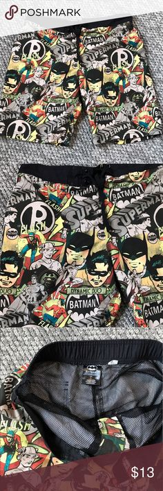 Men's superhero swim shorts Men's superhero swim shorts. Excellent condition! Swim Board Shorts