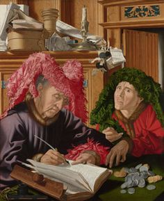 Marinus van Reymerswaele, Two Tax Gatherers, ca. oil on panel. The National Gallery, London Renaissance, Global Governance, Tax Day, National Gallery, Louvre, Cultural, Art Graphique, 16th Century, Middle Ages