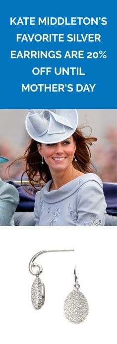 Give your ears the royal treatment—and your wallet the budget treatment. Links Of London, 20 Off, Kate Middleton, Silver Earrings, Ears, Best Gifts, Fashion Beauty, Budget, Wallet