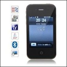 C006 Cellulare i5 Cards + Quad Band doppie con TV analogica Phone Java cellulare touch screen (Black) - 47,61€ - SuQui Shopping by Siwmo