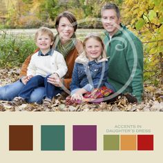 The little girl's skirt serves as the palette in this family. Love how the colors coordinated together for this family