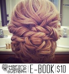 this is a pretty updo. different than the standard curly do