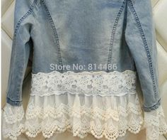 jaqueta jeans com renda - Pesquisa Google