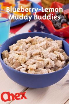 Blueberry-Lemon Muddy Buddies are packed with the delicious taste of Blueberry Chex and fresh lemon. Ready in just 15 minutes, this simple recipe has the sweet flavors of summertime in every bite!