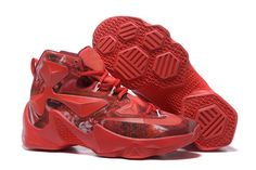Cheap Lebron 13 25K Sneaker Colorful Red