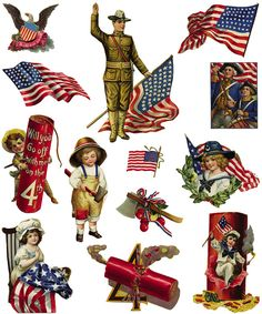 MEMORIAL DAY and VETERAN'S DAY November 11,  AND FOURTH of JULY- - Samples Full-Color Holiday Vignettes CD-ROM and Book Welcome to Dover Publications