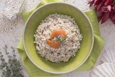#Orzotto con crema di #Capesante.  Siete amanti dei cereali, della cucina gustosa e salutare?  Allora questa è la #ricetta che fa per voi!