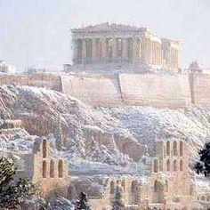 Good morning from beautiful snowy Athens, Greece. #athens #parthenon #acropolis #greece #hellas #greek #greeks #greeklife