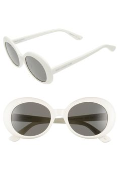 Saint Laurent 'California' 53mm Oval Sunglasses