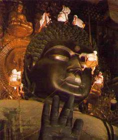 Nara. The daibutsu (large statue of Buddha) in Nara, Japan
